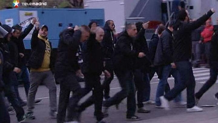 Detenidos siete miembros de Ultra Sur por agredir a tres hinchas del Frente Atlético