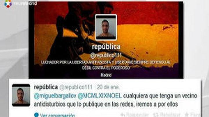 Denuncian a un usuario de Twitter por amenazar a los antidisturbios en la red social