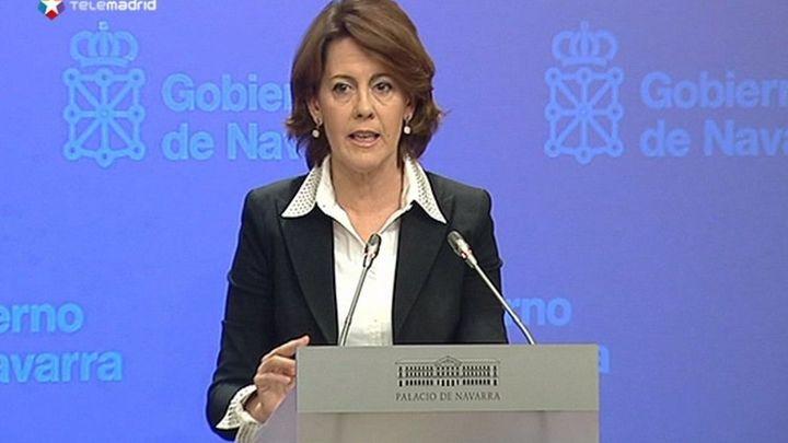 Barcina rechaza dimitir y confía en que Rubalcaba evite una moción de censura