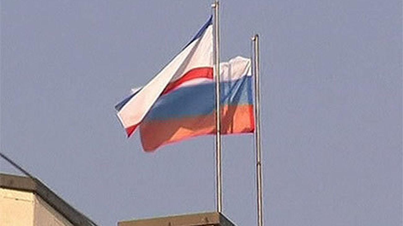 Banderas de Crimea y Rusia