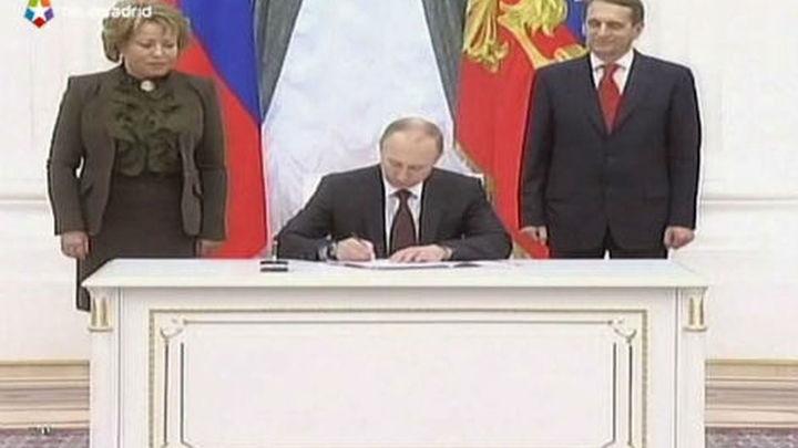 Putin promulga la incorporación de Crimea y Sebastopol a Rusia