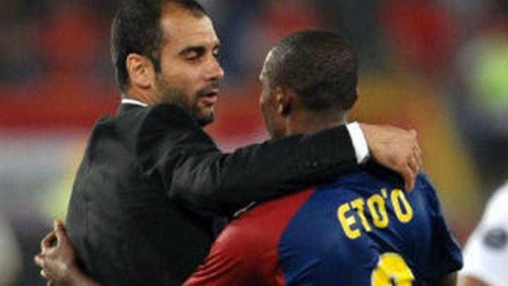 """Eto'o: """"Le dije a Guardiola, ¿usted no es normal, no?"""