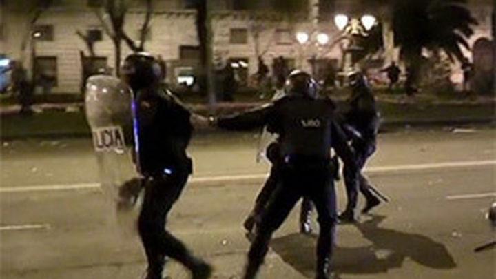 Protestas policiales por el dispositivo ante los salvajes disturbios del 22M