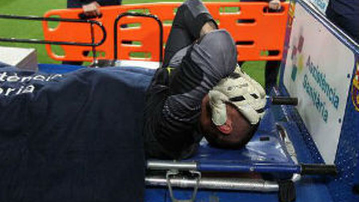 Valdés, seis meses de baja por la rotura del cruzado anterior
