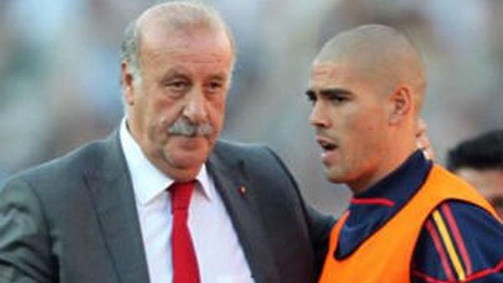 """Del Bosque: """"Ahora no voy a entrar en recambios de Valdés"""""""