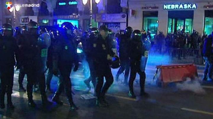 La huelga estudiantil en Madrid concluyó en el centro con cargas policiales