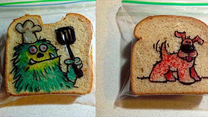 Arte en el sándwich