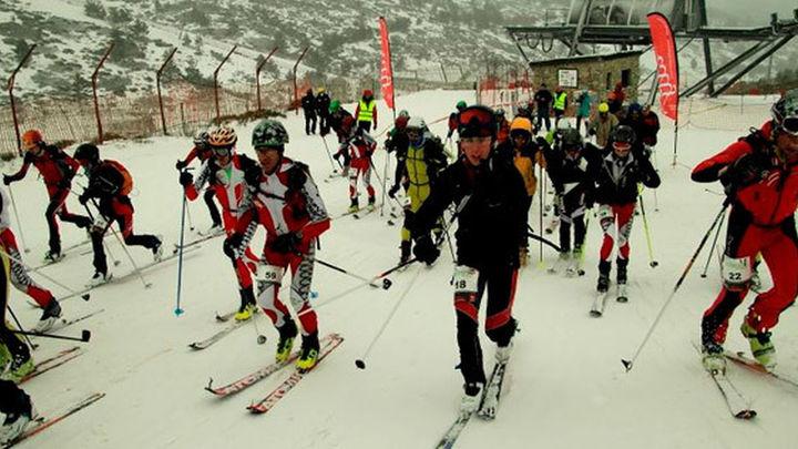 Valdesquí acogió el campeonato de Madrid de esquí de montaña