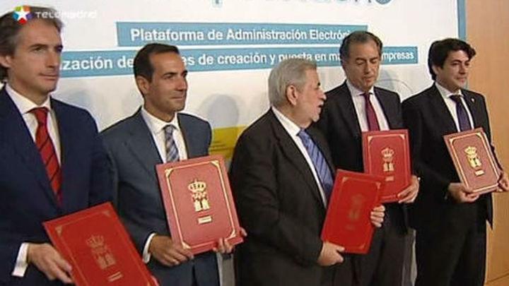 Las tres administraciones firman un protocolo para facilitar la creación de empresas