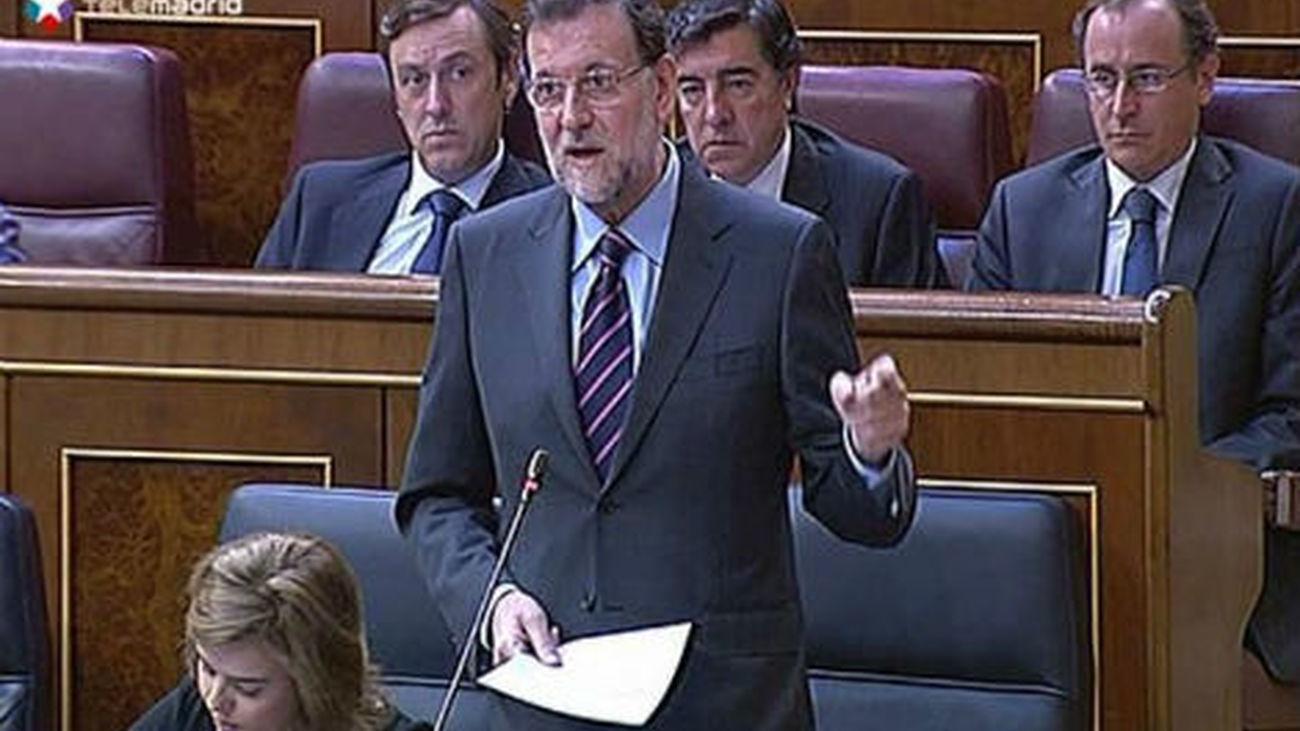 Rajoy en la sesión de control al Gobierno