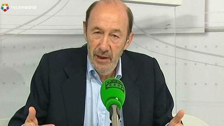 Rubalcaba descarta una gran coalición con el PP mientras él lidere el PSOE