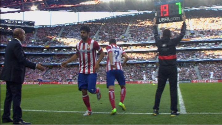 Costa abandonó la final a los 9 minutos