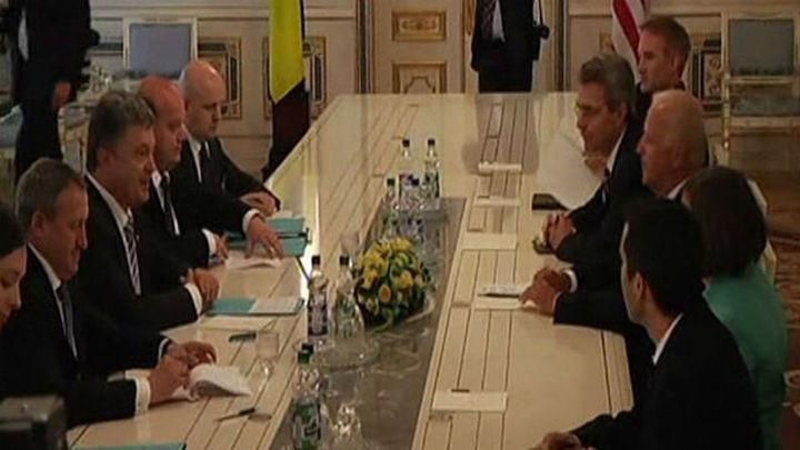 "Poroshenko asegura a Biden que Ucrania será ""un buen socio"" de EEUU"