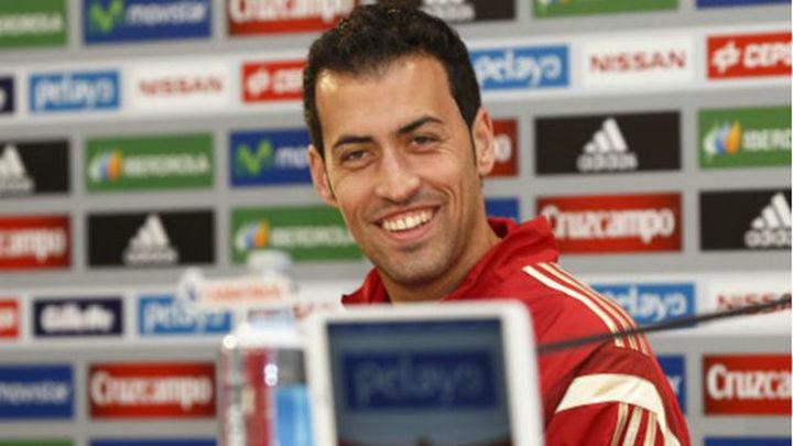 """Busquets: """"Creo que voy a seguir jugando muchos años con la Selección Española"""""""