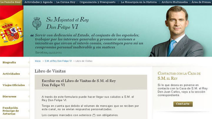 La Casa Real renueva su web