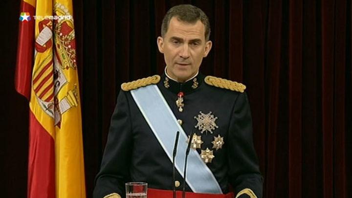 """Felipe VI proclama su """"fe en la unidad de España"""" en la que """"caben todos"""""""