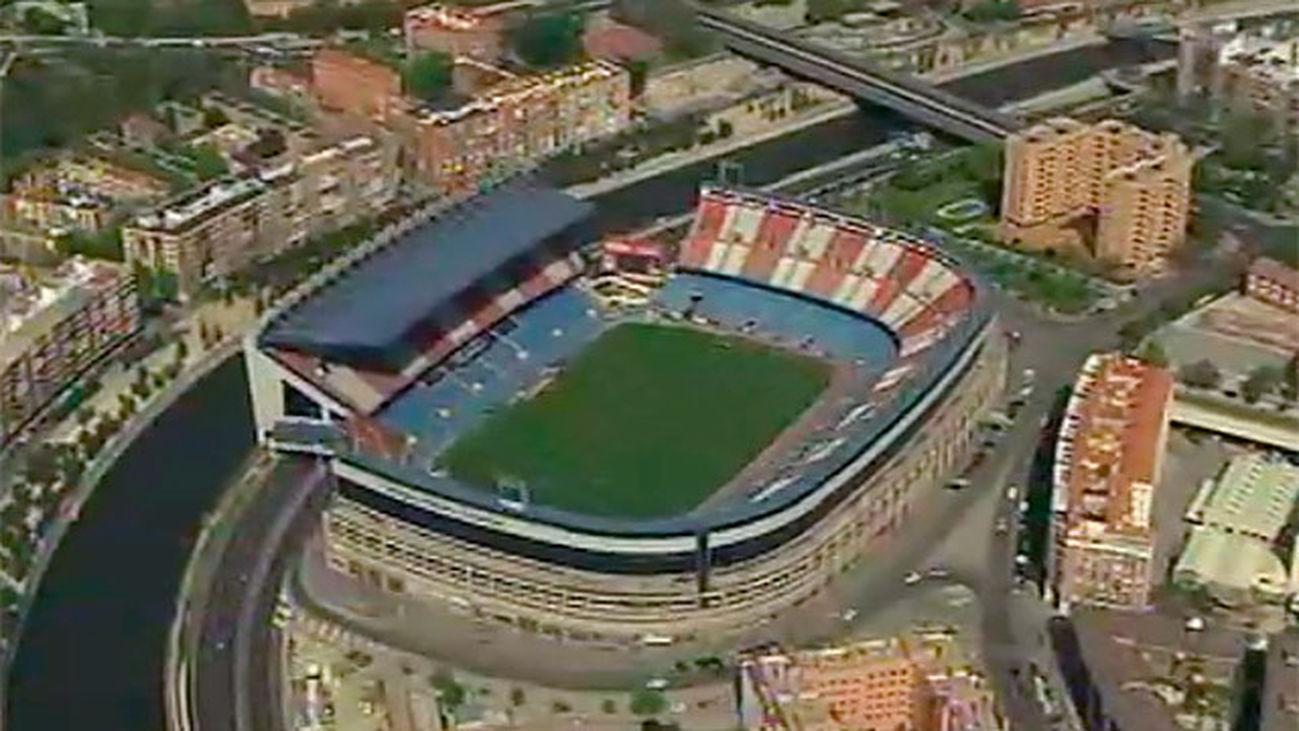 Imagen aérea del estadio Vicente Calderón
