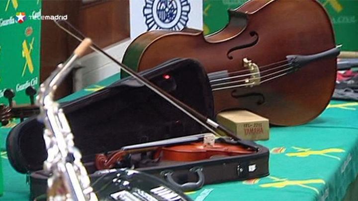 Cae una banda dedicada a robar tiendas de instrumentos musicales utilizando mazas