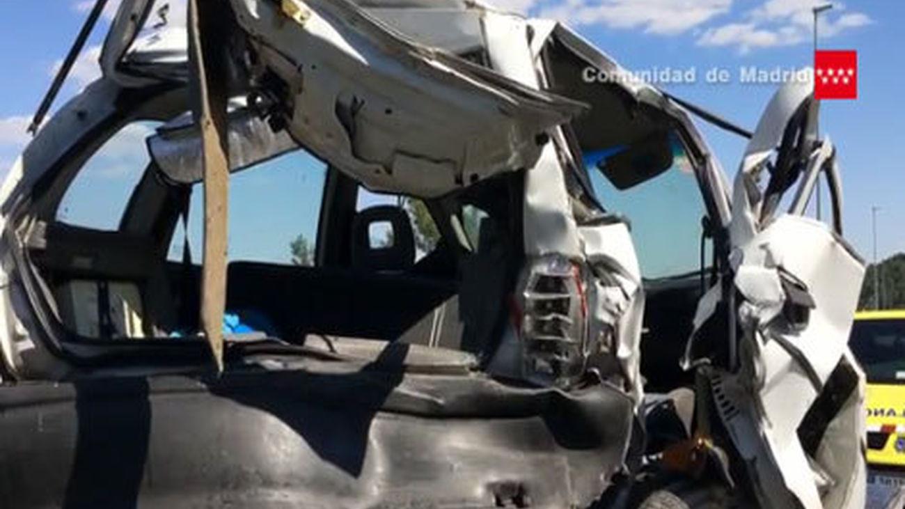 Accidente de tráfico en la AP-6