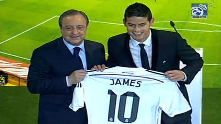 """James Rodríguez ya viste de blanco: """"Espero dar muchas alegrías y títulos"""""""