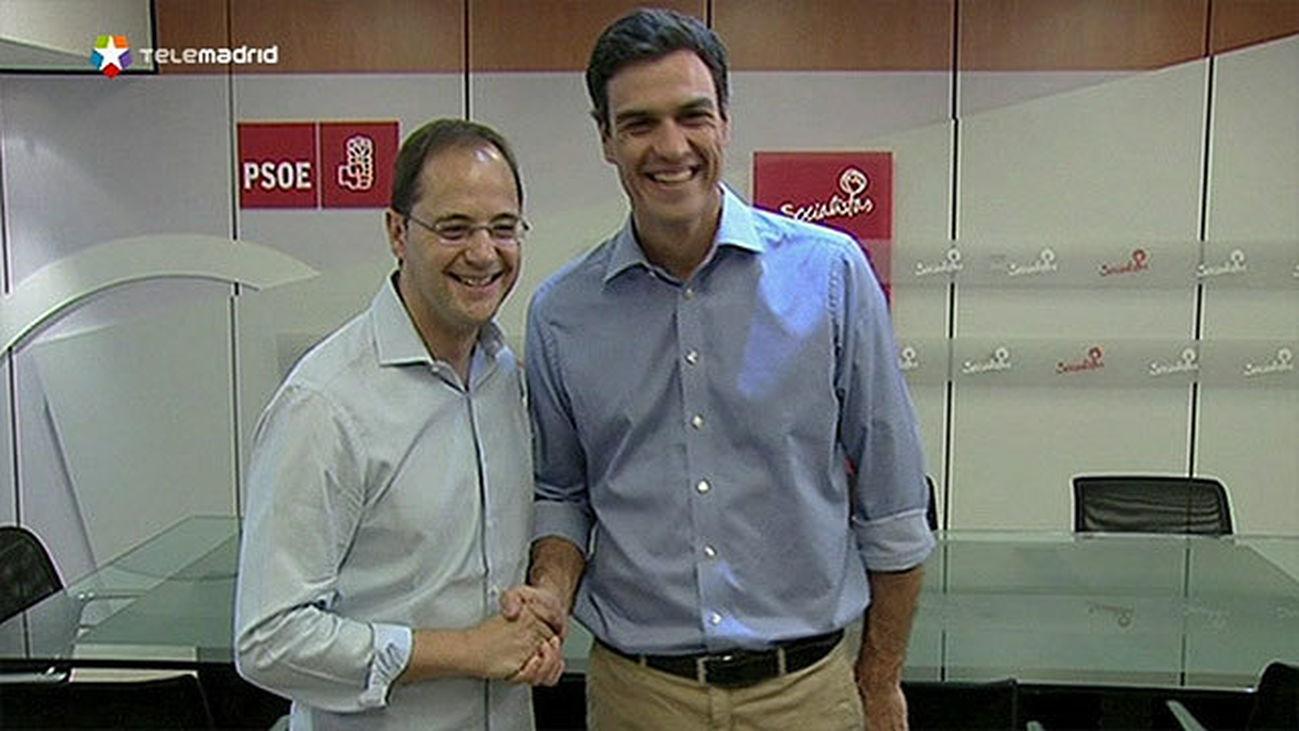 El riojano César Luena con Pedro Sánchez