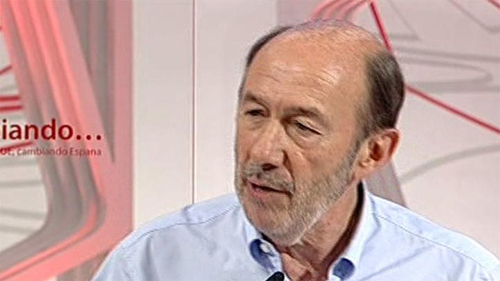 Rubalcaba critica que la Generalitat pida diálogo incumpliendo la ley