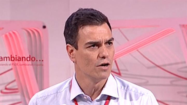 """Pedro Sánchez: """"El PP sólo busca la elección directa del PP"""", con la reforma electoral"""