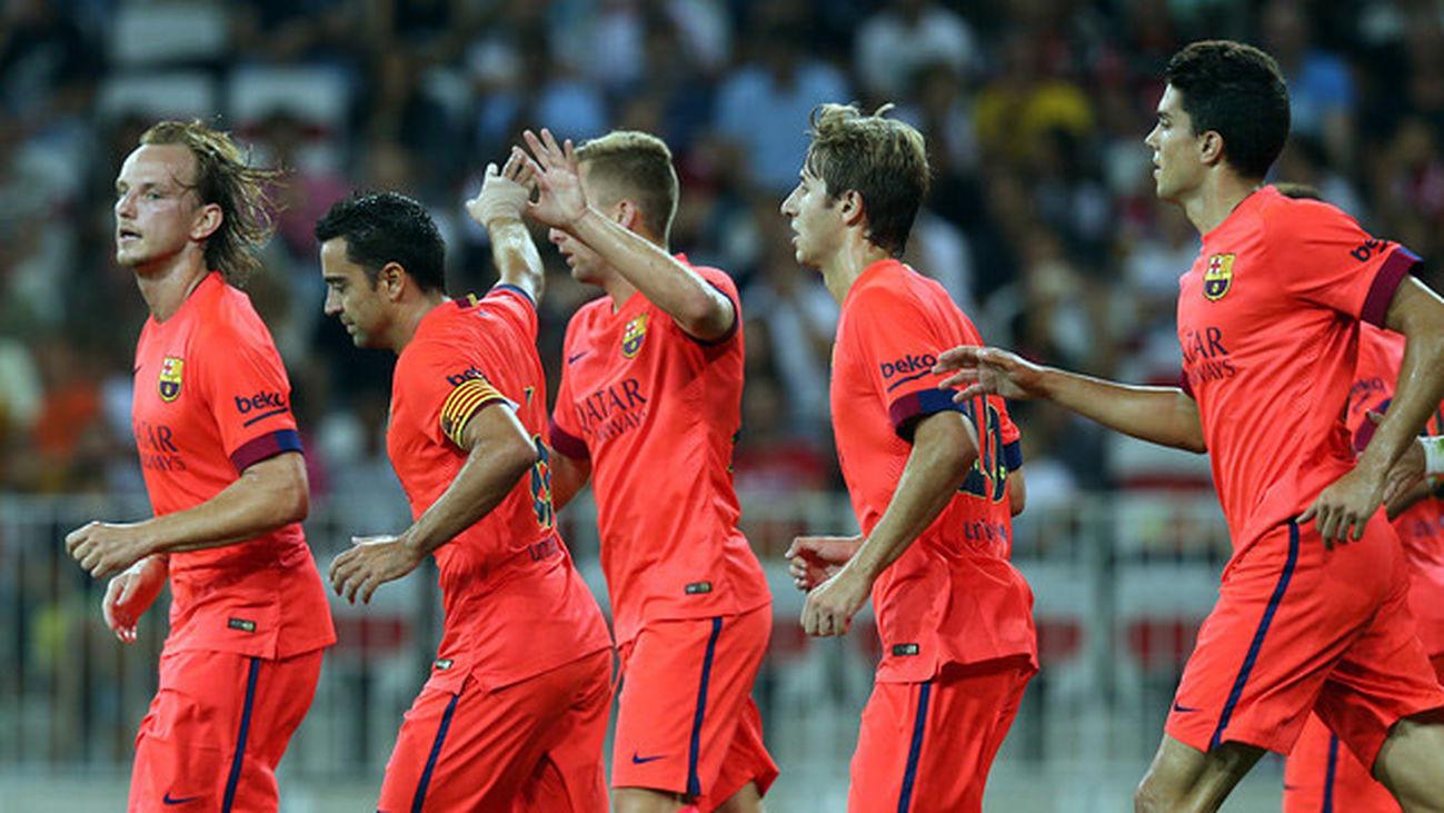 1-1. El Barcelona emite señales de mejoría con Xavi en el campo