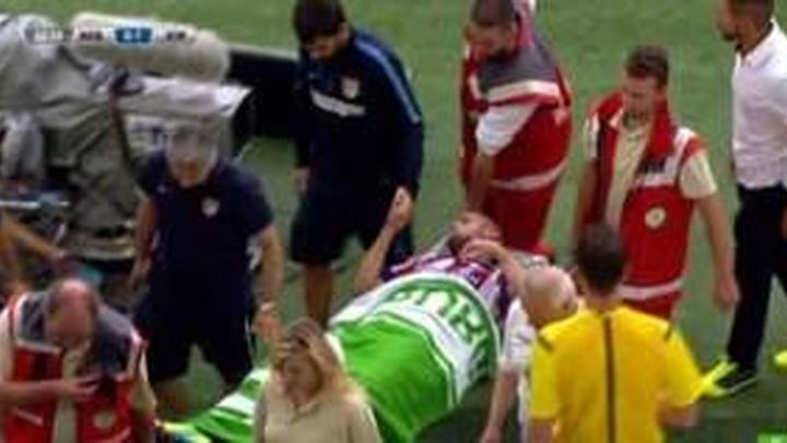 Mario Suárez sufrió un traumatismo craneoencefálico
