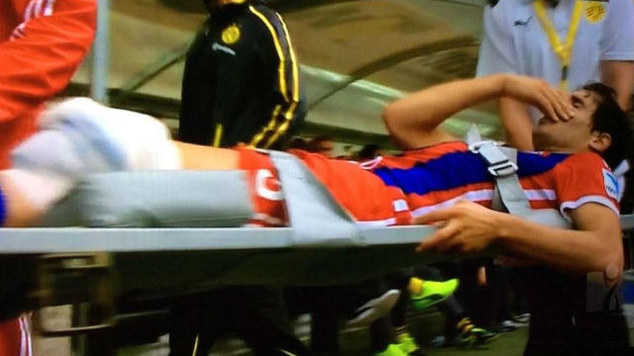 Javi Martínez, rotura de ligamentos cruzados de la rodilla