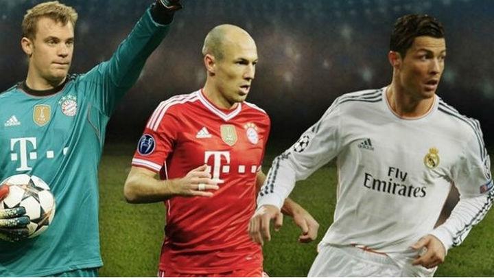 Cristiano, Robben y Neuer, candidatos a mejor jugador de Europa