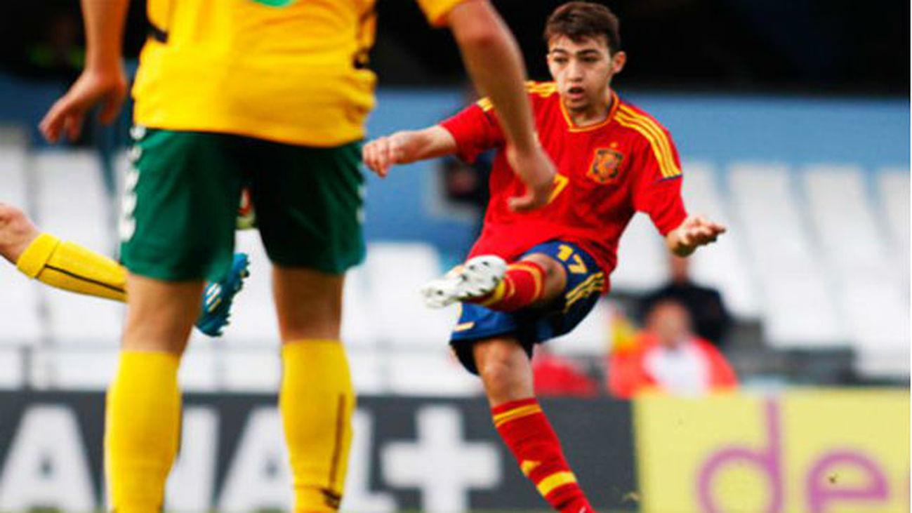 Munir, jugador de la selección española