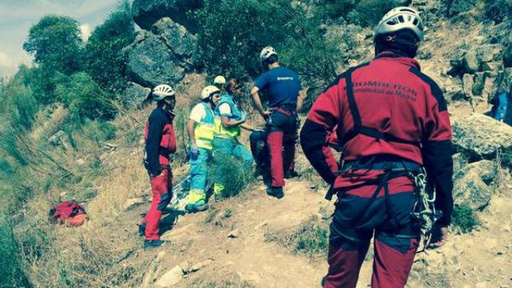 Una escaladora fallece al caerse desde 20 metros en Patones