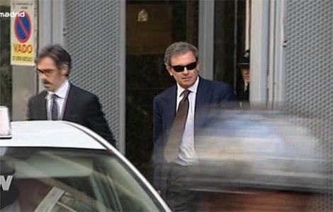 Jordi Ferrusola a la salida de la Audiencia Nacional