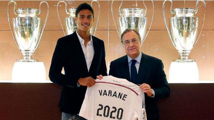 Varane renueva con el Real Madrid hasta 2020