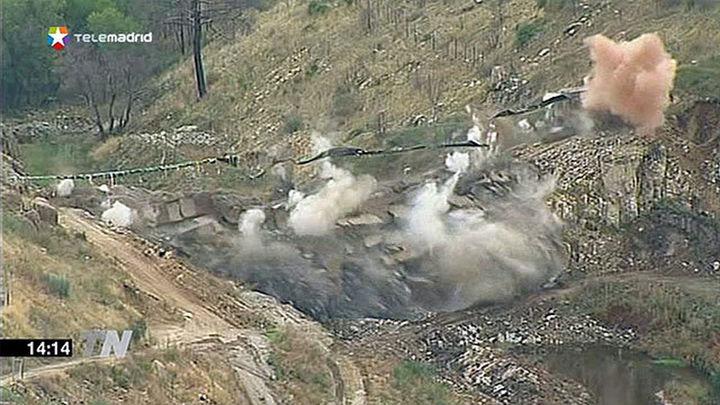 Demolida la presa de Robledo de Chavela