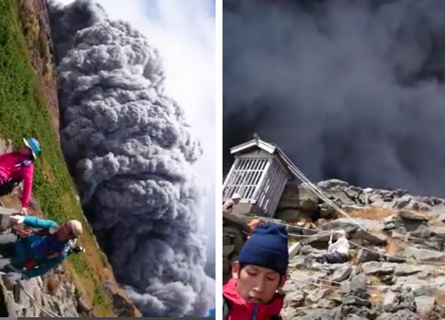 Imágenes de impacto del volcán japonés