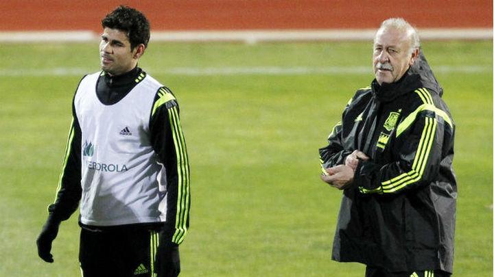"""Del Bosque: """"Que Costa haga aquí lo mismo que en el Chelsea"""""""