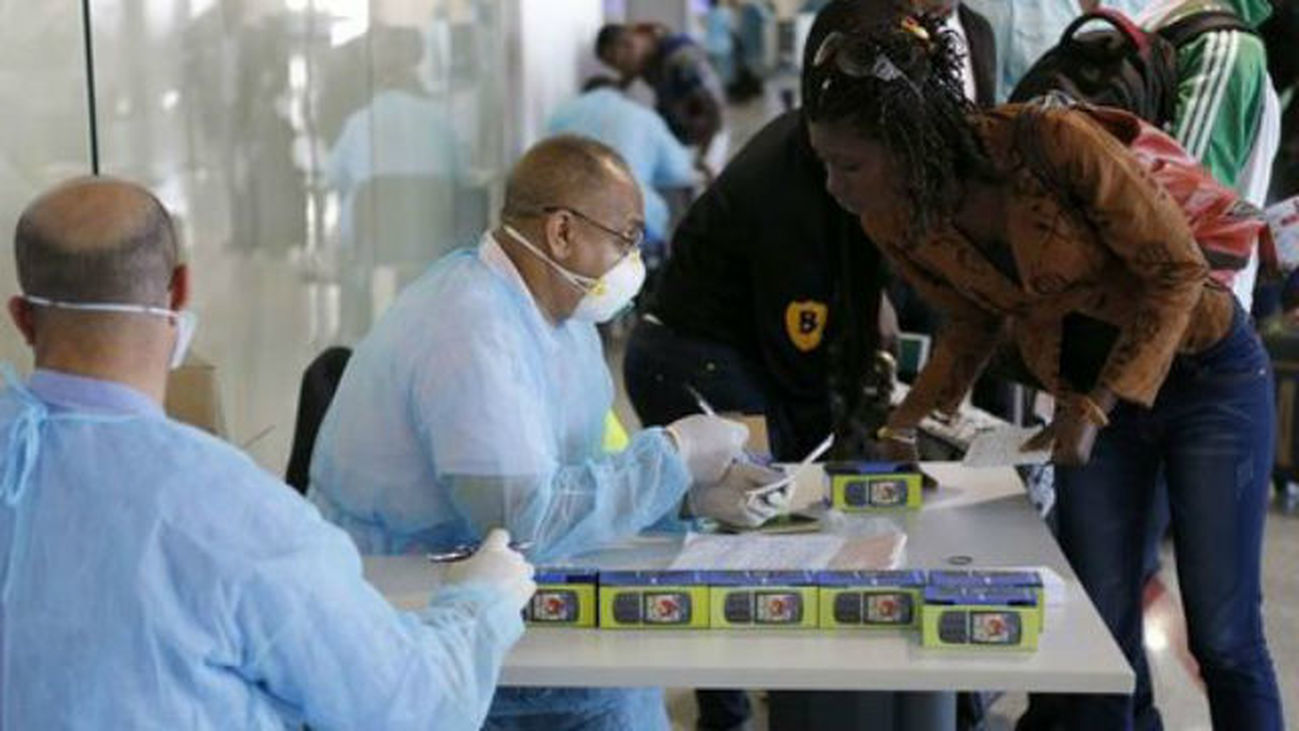 Control de ébola en Heathrow