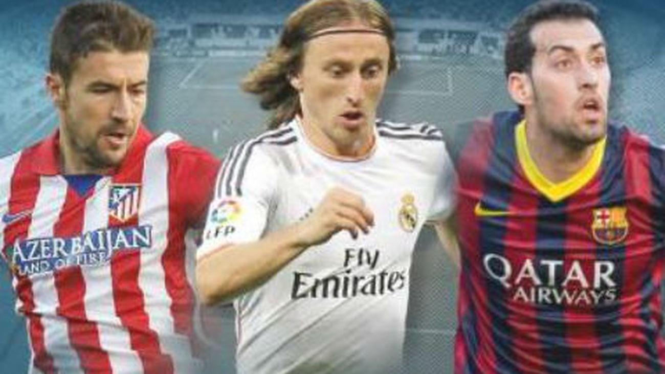 Gabi, Modric y Busquets