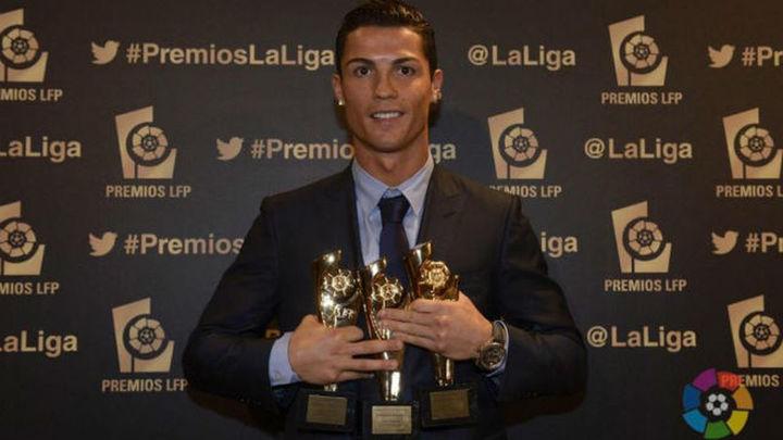 Cristiano, con un 'hat trick', gran protagonista de la Gala de los Premios LFP 2014