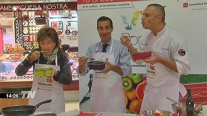 Victoria y el chef Juan Pozuelo preparan tarteras saludables