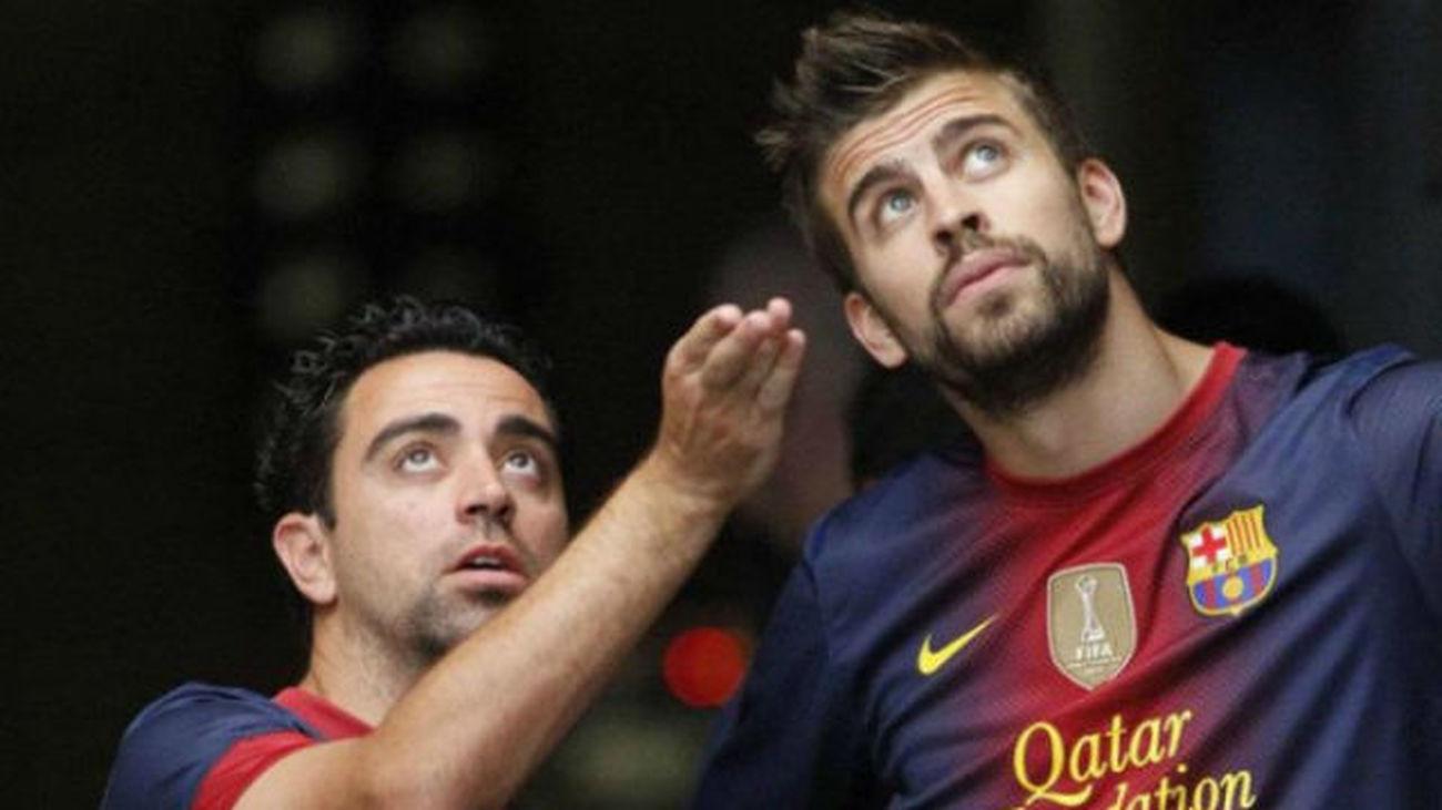 """Xavi """"Piqué es básico, fundamental y vital dentro y fuera del campo"""""""