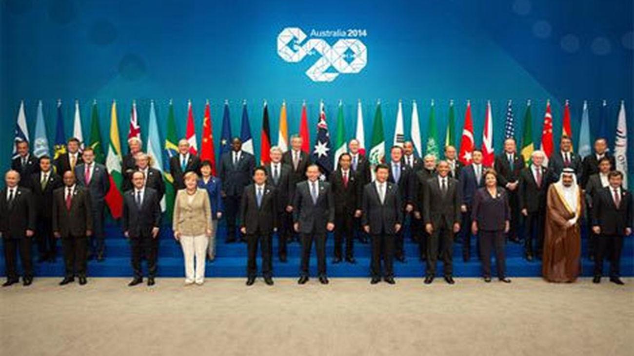 Foto de familia de la cumbre del G20