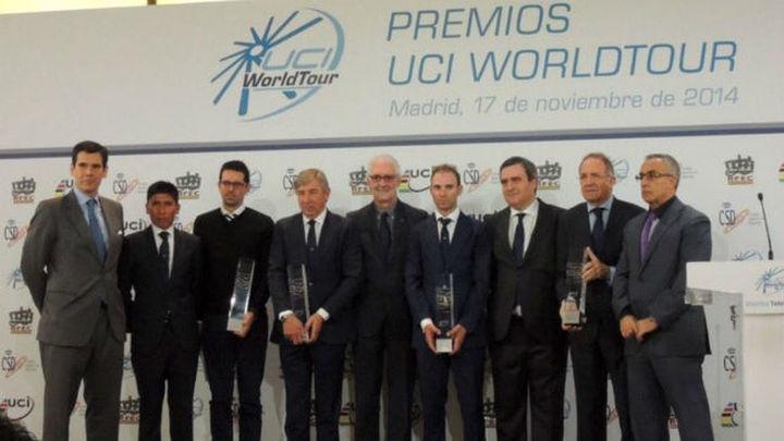 Valverde, Movistar y España copan los premios World Tour 2014