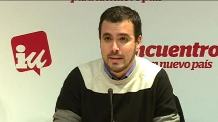 """Garzón dice que para él Gordo y Pérez están """"de facto"""" fuera de IU"""