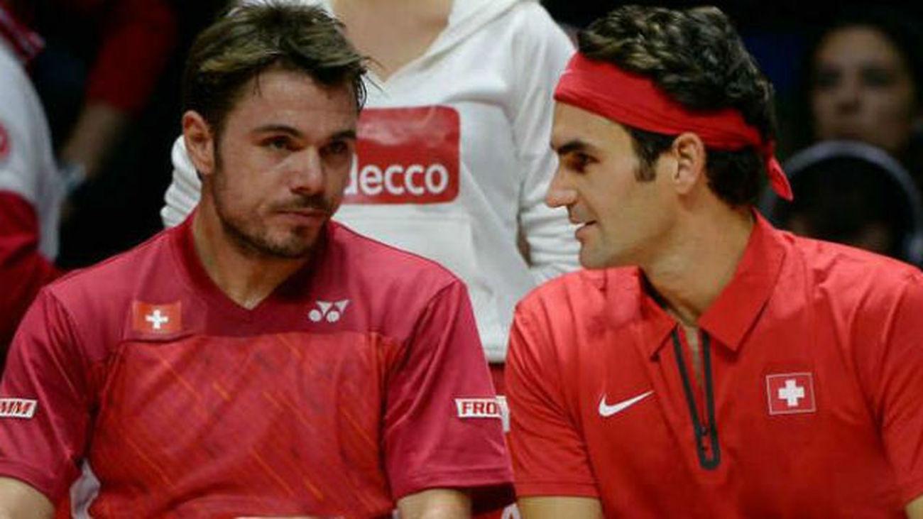 Federer y Wawrinka dan el punto de dobles a Suiza frente a Francia
