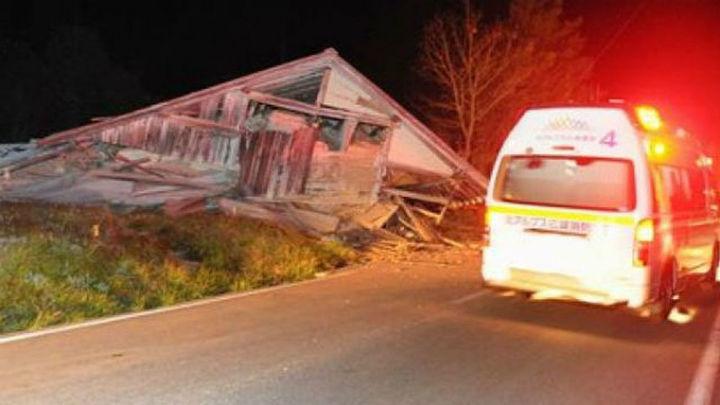 Un terremoto de 6,8 grados deja al menos 14 heridos en el centro de Japón