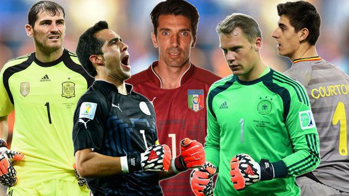 Casillas, Neuer, Bravo, Courtois y Buffon, candidatos a mejor portero de 2014