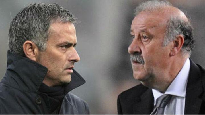 """Del Bosque, a Mourinho: """"Cada uno debe opinar de su casa"""""""